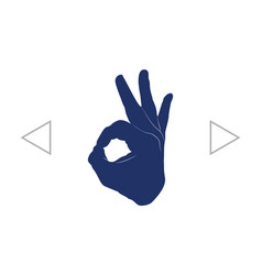 human hand showing ok sight fingers showing vector image