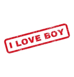 I Love Boy Text Rubber Stamp vector
