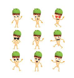 ice cream - set of mascot vector image