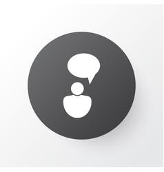 Idea discussion icon symbol premium quality vector