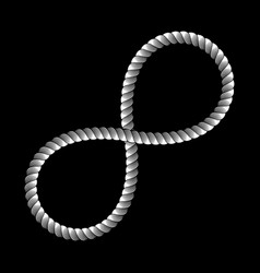 infinity symbol made from rope sign logo knot vector image