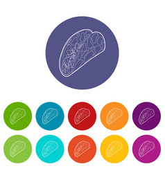 kebab icon outline style vector image