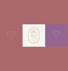 line decoration design elements set vector image