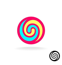 Lollipop colorful logo vector