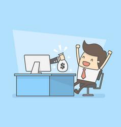 Make money online vector