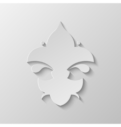 Paper Fleur de lis vector image