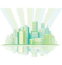 pastel city vector image