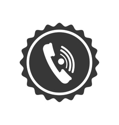 phone seal stamp communication icon vector image
