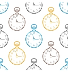 Pocket watch Seamless pattern with clocks on vector image