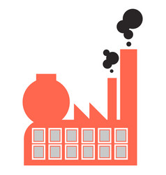 polluted air factory icon cartoon style vector image