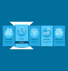 Pollution nature onboarding vector