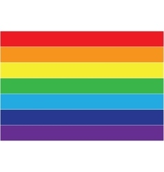 Rainbow flag icon lgbt community sign vector image