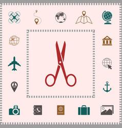 scissors icon symbol elements for your design vector image