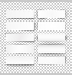set of 10 bended white paper banners vector image