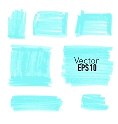 Set of blue paint stains for your design vector image