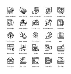 shopping colored icons set 3 vector image