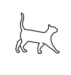 simple outline cat vector image