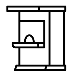 Ticket kiosk icon outline style vector