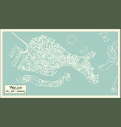 Venice italy city map in retro style vector