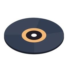 Vinyl record isometric 3d icon vector image vector image