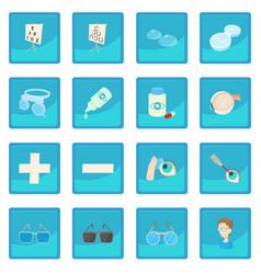 vision correction icon blue app vector image