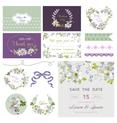Wedding Flower Lily Theme Design Elements vector image