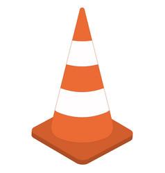 White orange traffic cone 3d sign cone vector