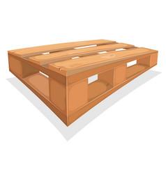 Wooden palett for warehouse vector
