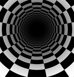 Abstract chess tunnel background vector image