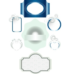 Frames with different decorations vector