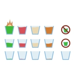 alcohol shot drink in glass vector image