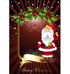 Christmas card with Santa vector image
