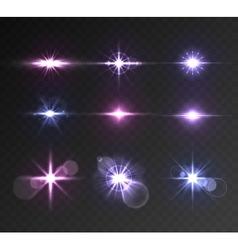 Lighting flare set vector image