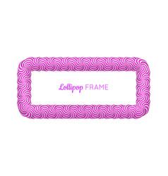lollipop violet rectangle frame vector image