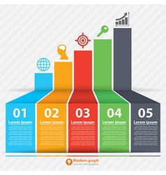 Modern graph banner infographic vector image vector image