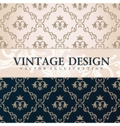 vintage wallpaper Gift wrap Floral vector image