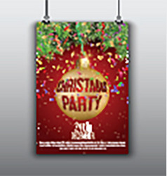 Christmas flyer background vector image vector image