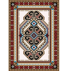 Design in the frame for carpet vector image vector image