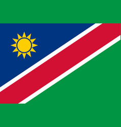 flag in colors of namibia image vector image