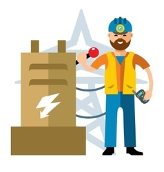Man Electricity Flat style colorful vector image vector image