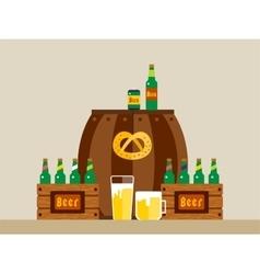 Oktoberfest celebration background poster vector image