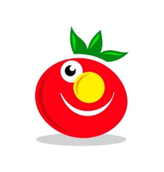 Smile Character tomato sign vector image