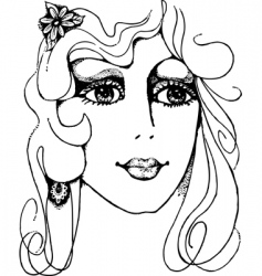 woman's face vector image