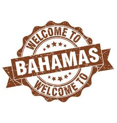 bahamas round ribbon seal vector image vector image