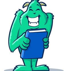 Book monster vector