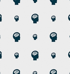 Brain sign Seamless pattern with geometric texture vector image vector image