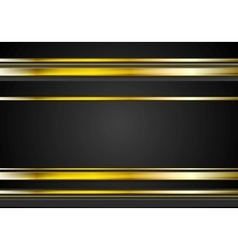 Minimal abstract technology golden vector image