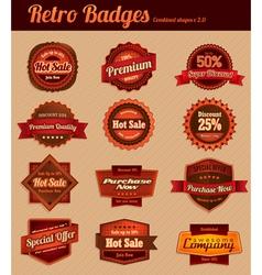 Retro badges vector