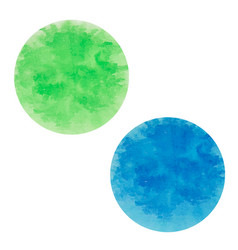 round ink spots blue and green vector image vector image