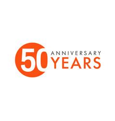 50 years logo concept vector